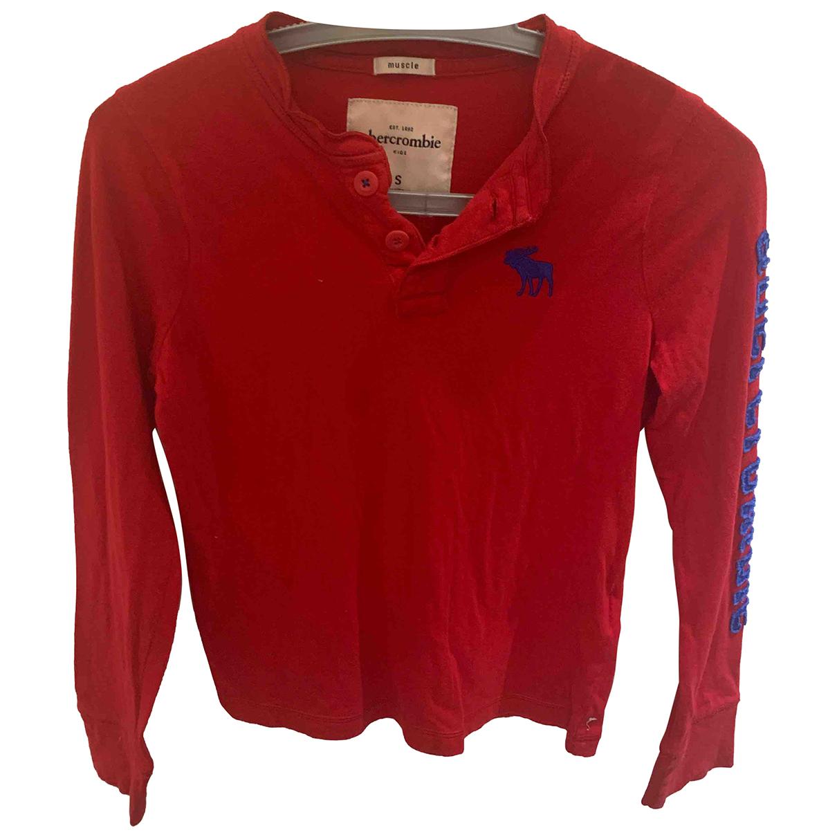 Abercrombie & Fitch - Top   pour enfant en coton - rouge