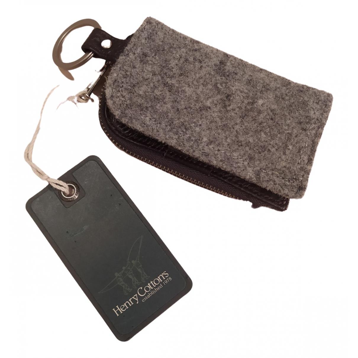 Henry Cotton - Petite maroquinerie   pour femme en cuir - gris