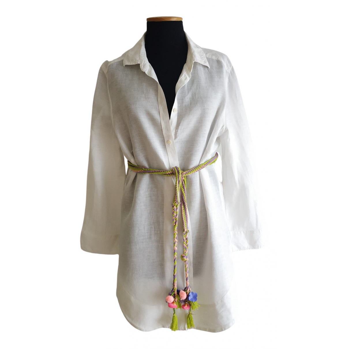 Intrend \N White Linen  top for Women 46 IT