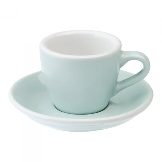 "Espressotasse mit Untertasse Loveramics ""Egg River Blue"", 80 ml"