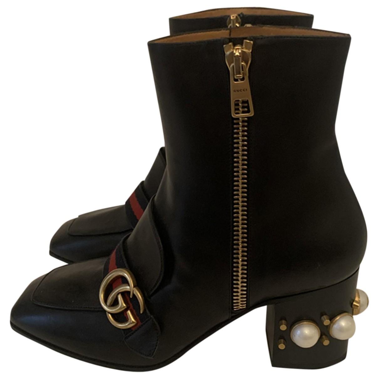 Botines Marmont de Cuero Gucci