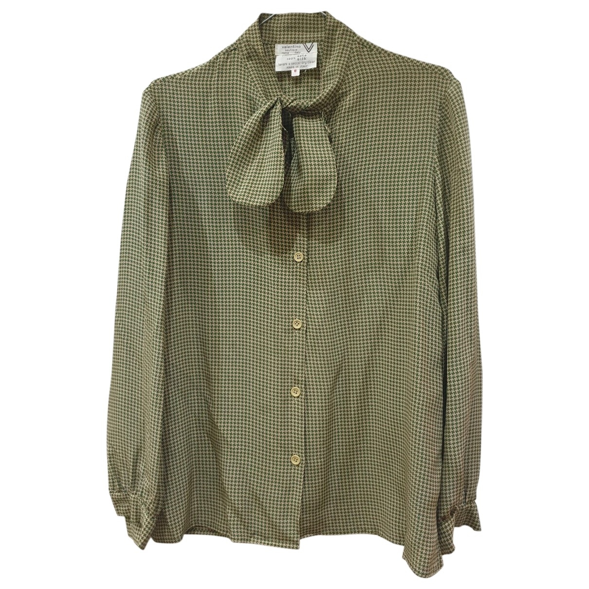 Valentino Garavani - Top   pour femme en soie - vert