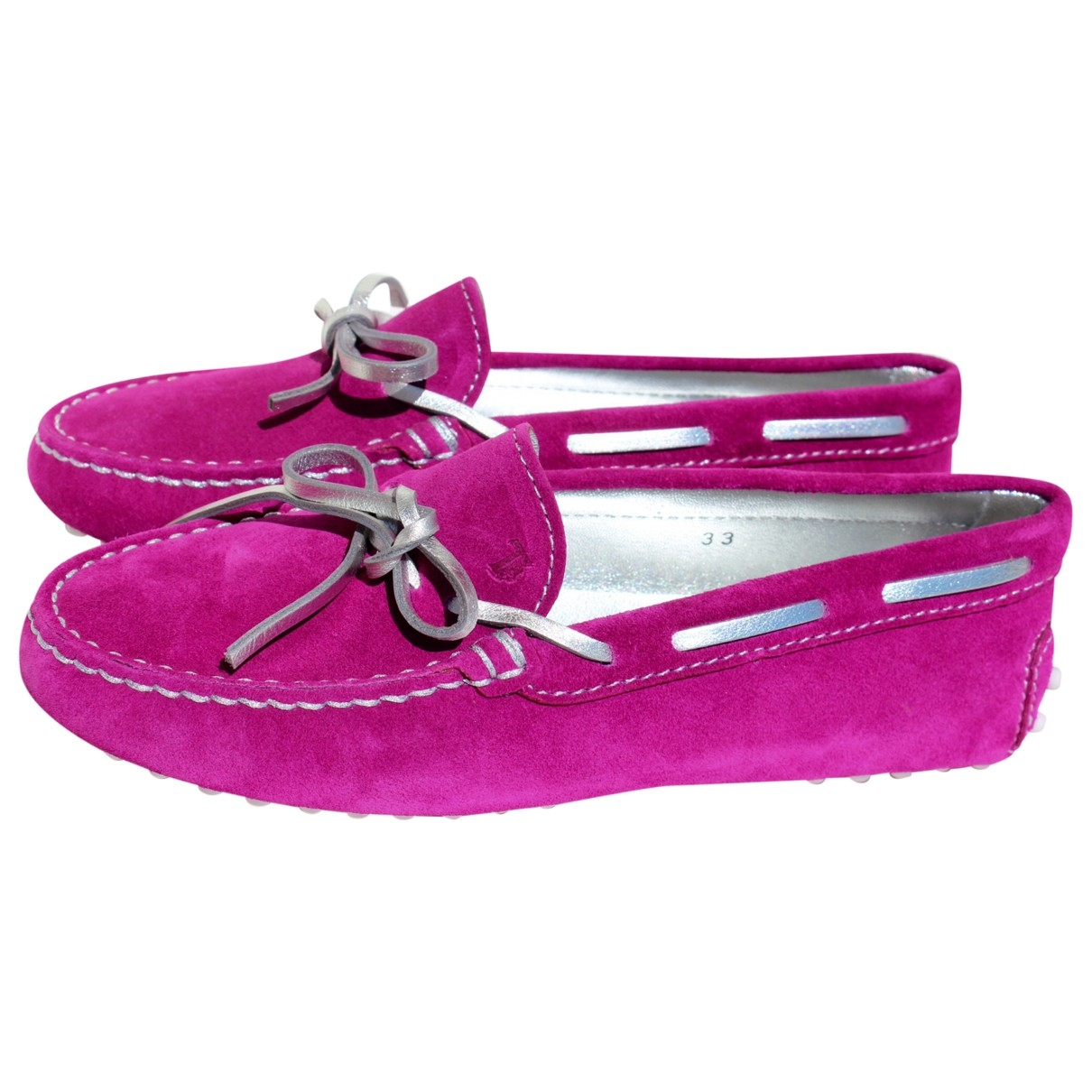 Tod's \N Purple Suede Flats for Kids 33 EU