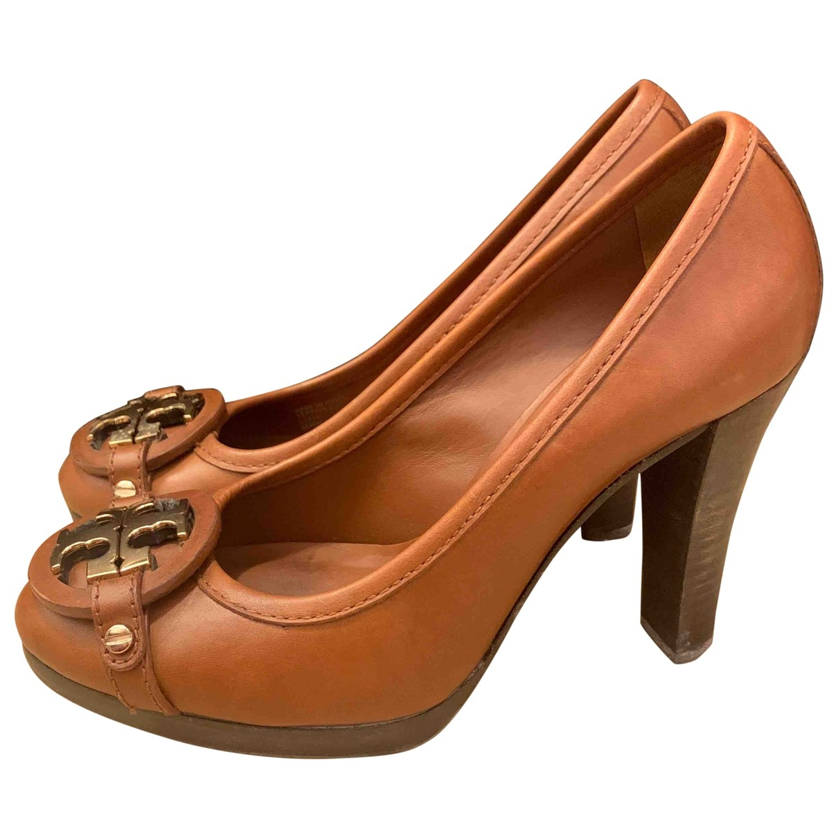Tory Burch \N Brown Leather Heels for Women 5.5 US
