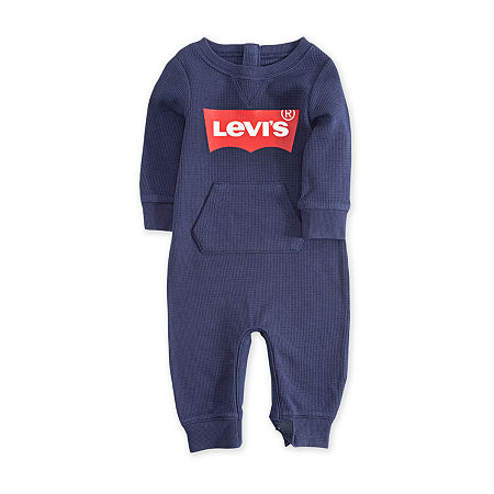 Levi's Baby Boys Long Sleeve Jumpsuit, 6 Months , Blue