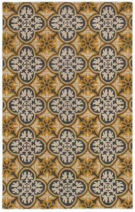 OPUOP810000280305 Opus OP8100-3' x 5' Hand-Tufted 100% Wool Rug in Gold  Rectangle