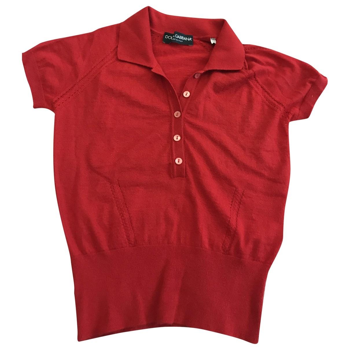 Dolce & Gabbana - Top   pour femme en cachemire - rouge