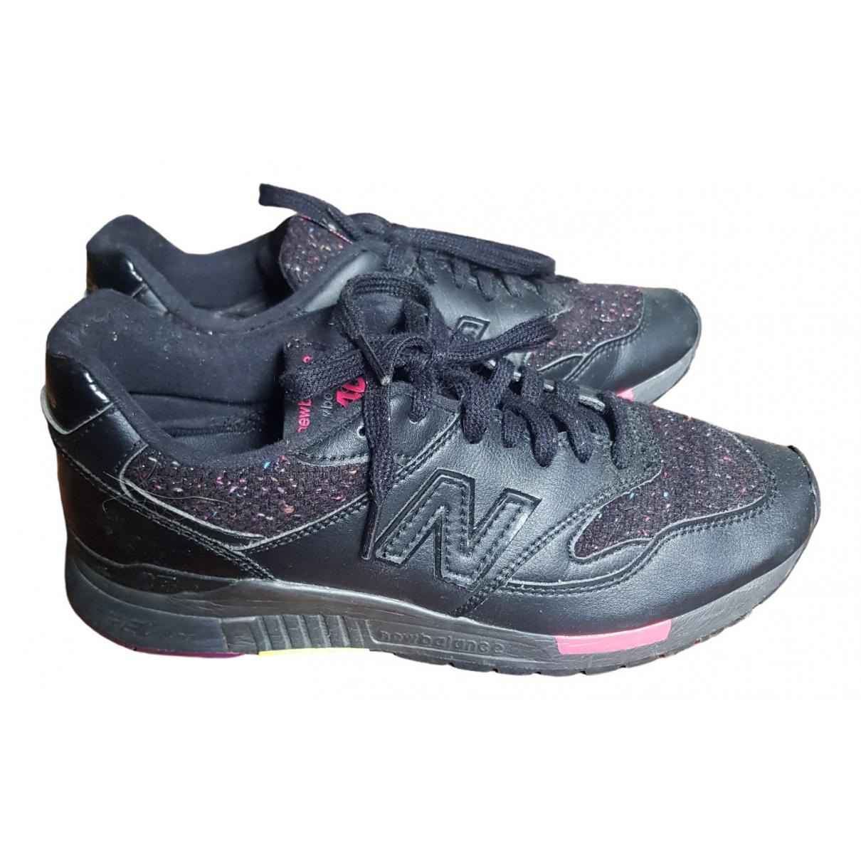 New Balance - Baskets   pour femme en cuir - noir