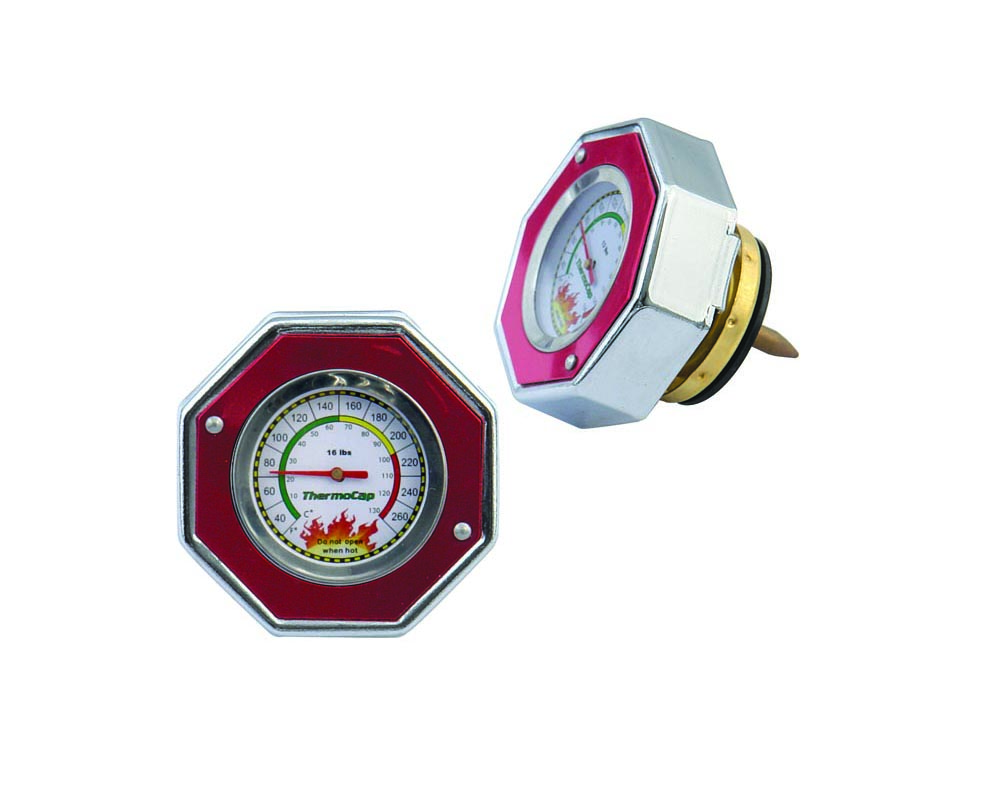 Mr. Gasket Thermocap - 16 PSI - Red