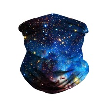 Galaxy Pattern Sun Protection For The Face