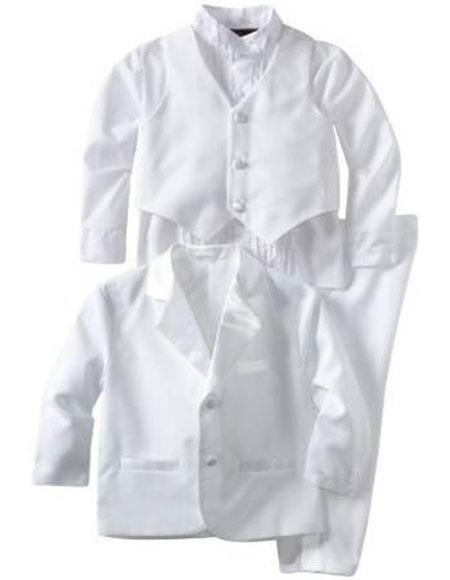 Boys Kids ~ Children White Tuxedo