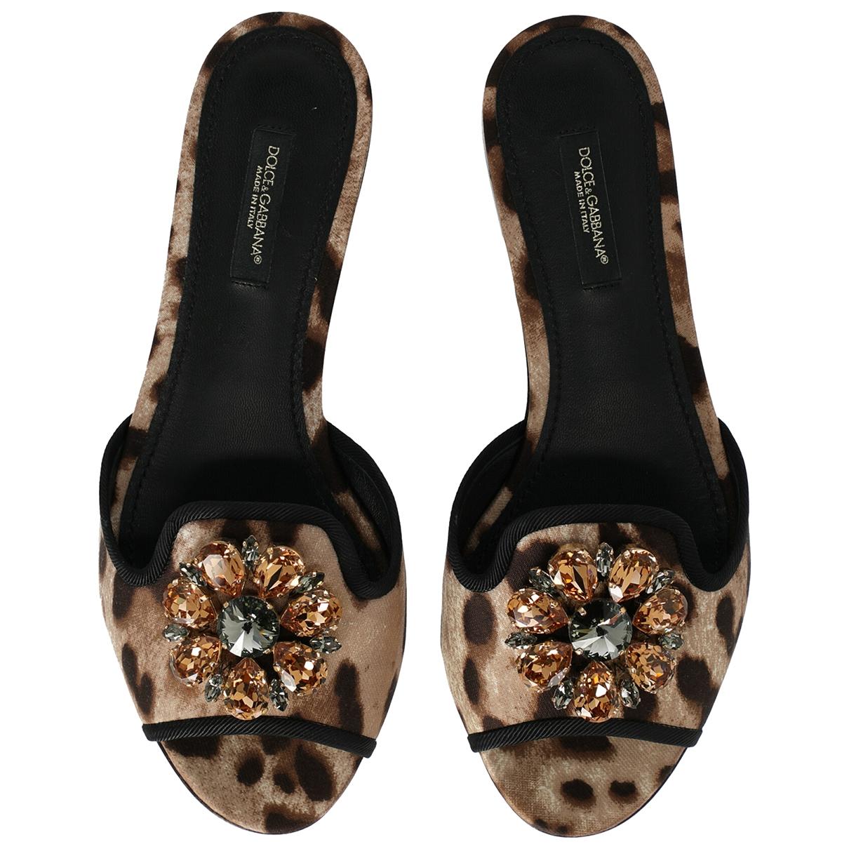 Zuecos de Lona Dolce & Gabbana