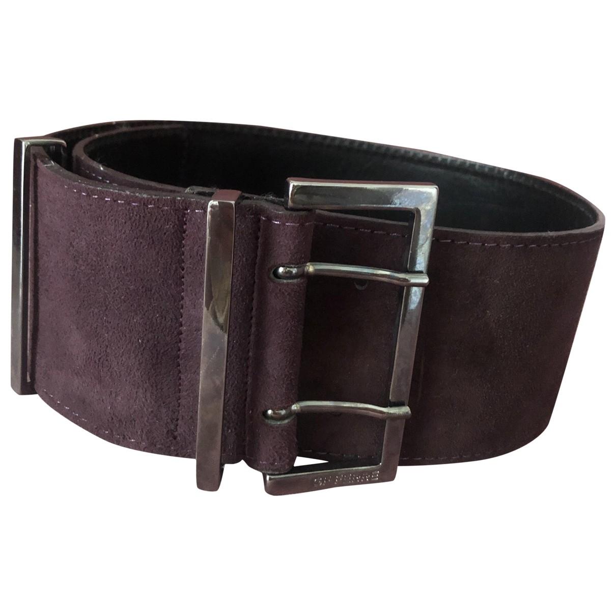 Gianfranco Ferré \N Purple Suede belt for Women 70 cm