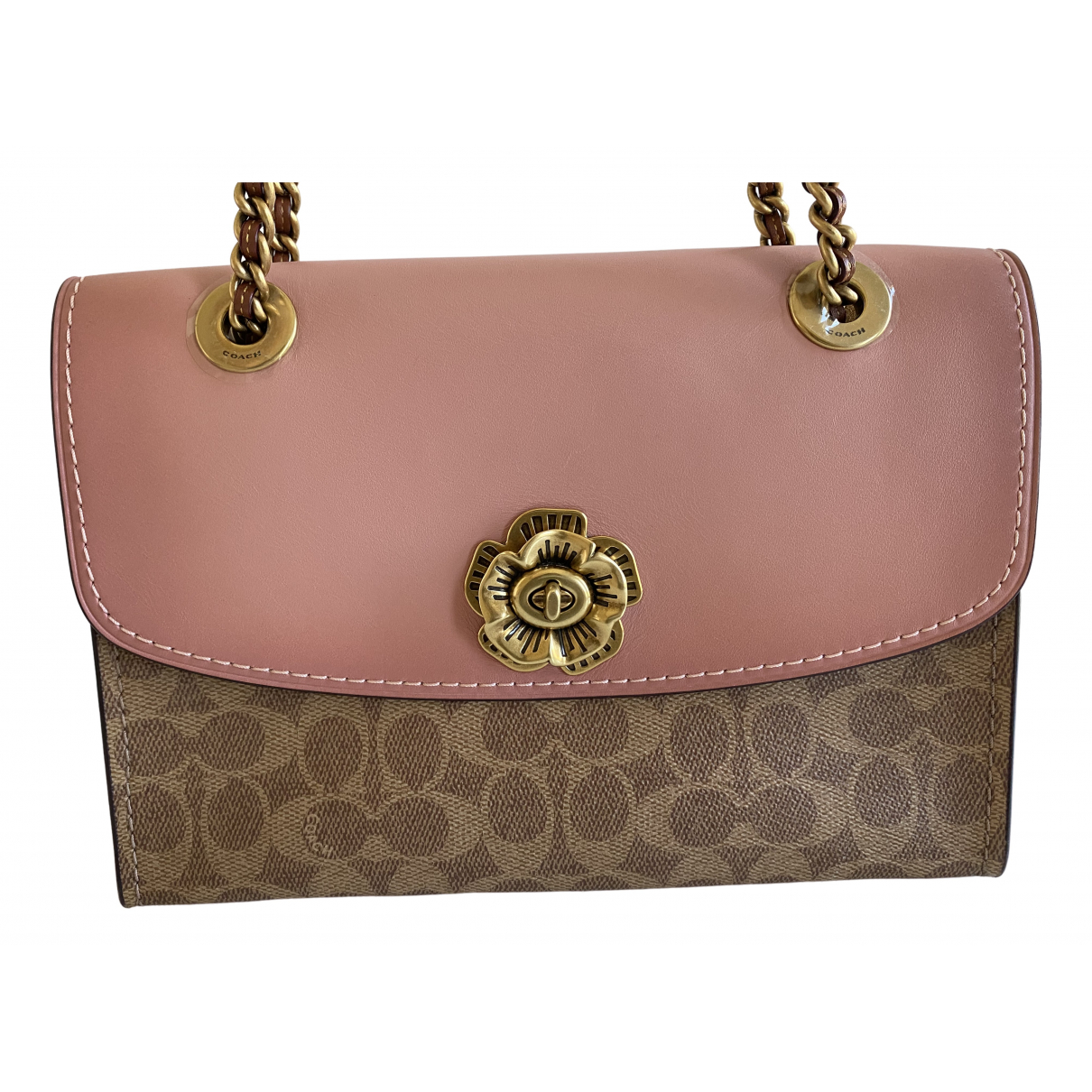 Coach Parker Pink Leather handbag for Women \N