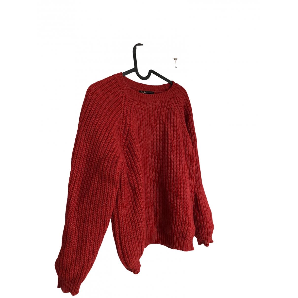Maje \N Red Wool Knitwear for Women 36 FR