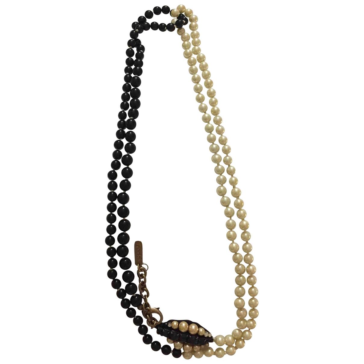 - Sautoir   pour femme en perles - noir