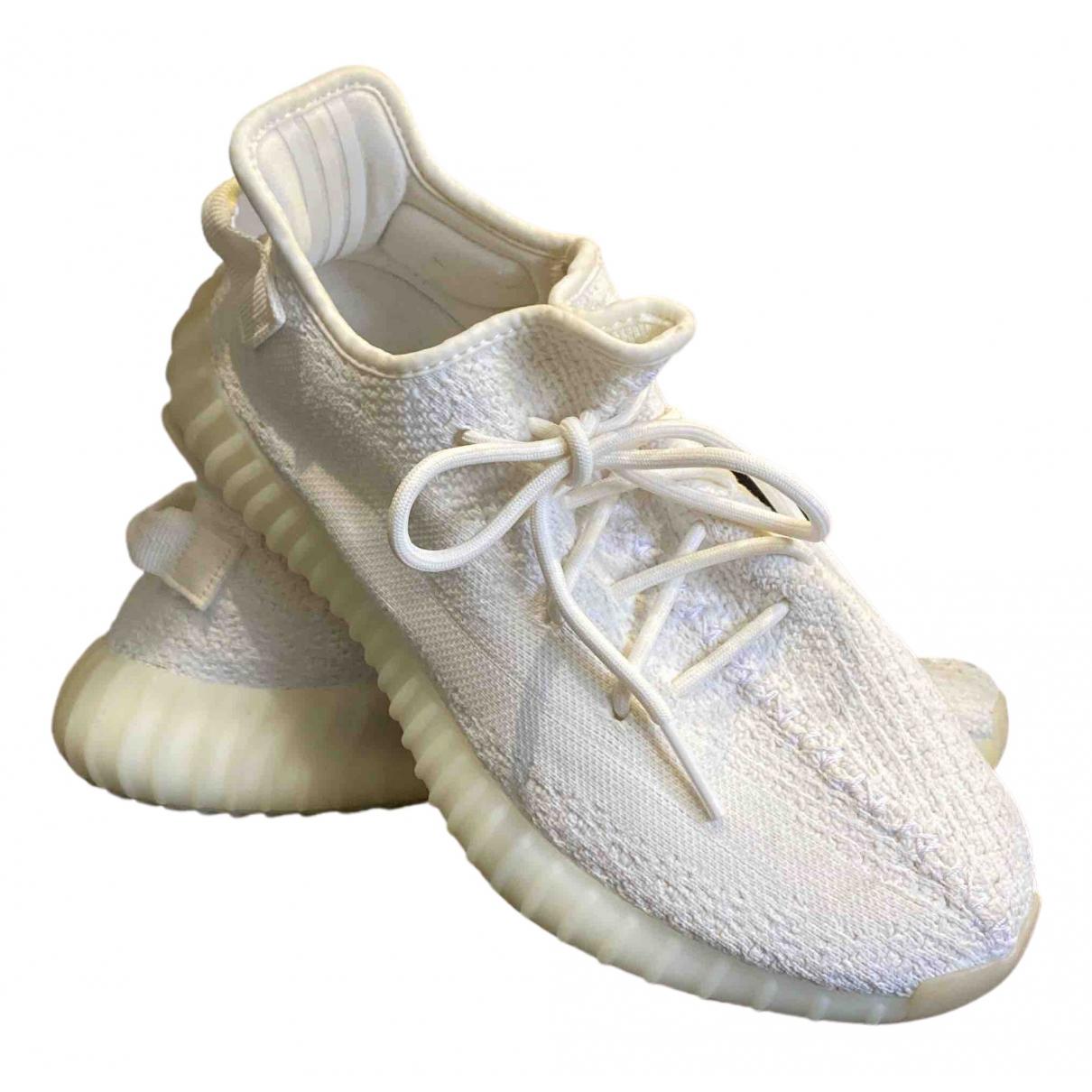 Yeezy \N Sneakers in  Weiss Leinen