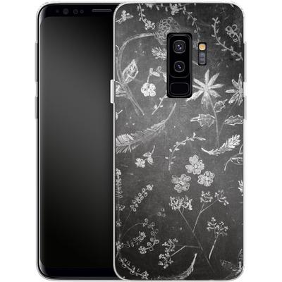 Samsung Galaxy S9 Plus Silikon Handyhuelle - Flowers in chalk von ND Tank
