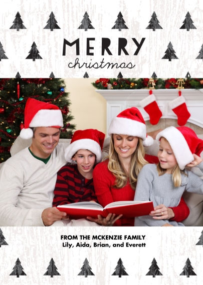 Christmas Mail-for-Me Premium 5x7 Folded Card , Card & Stationery -Forest of Christmas Trees