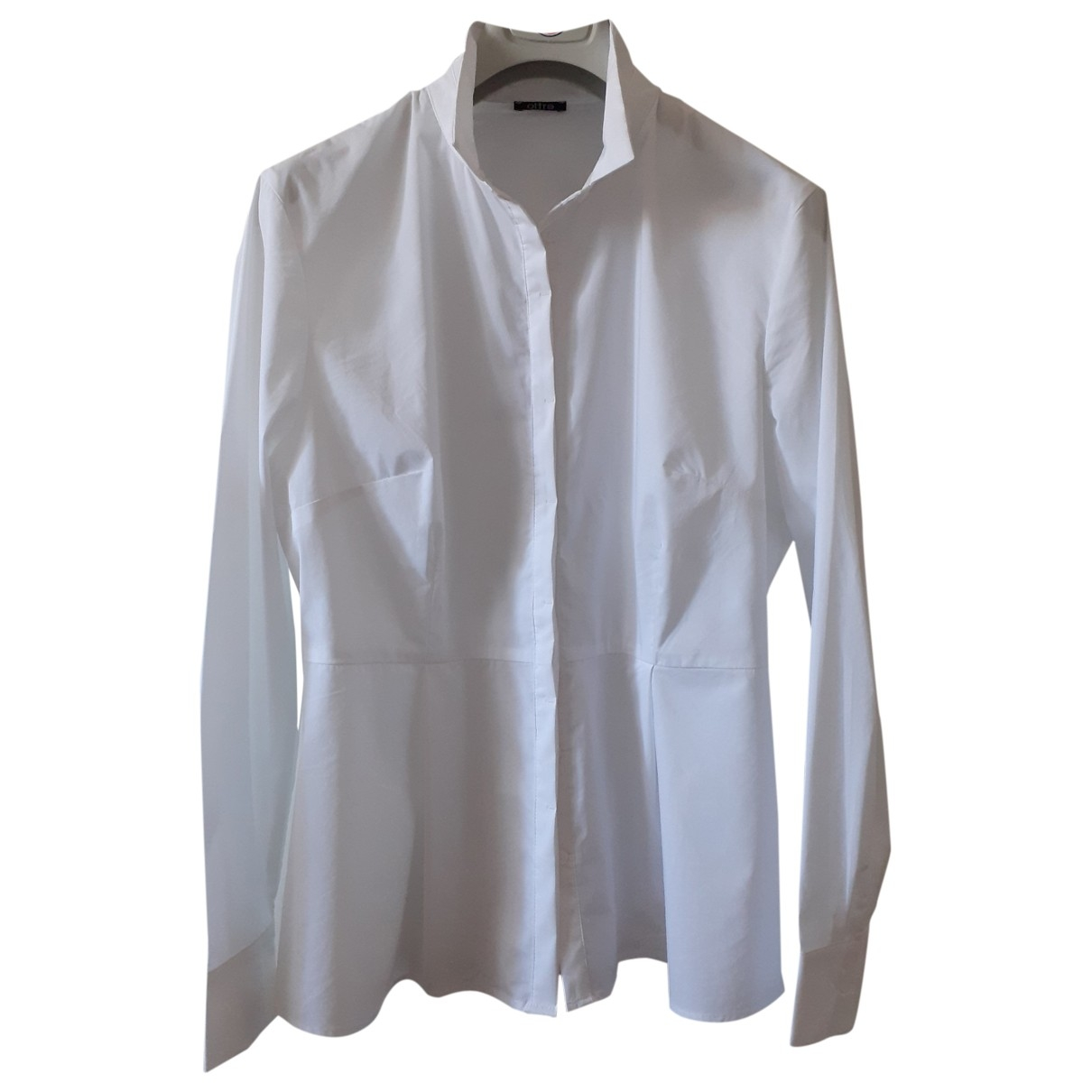 - Pull   pour femme en coton - blanc
