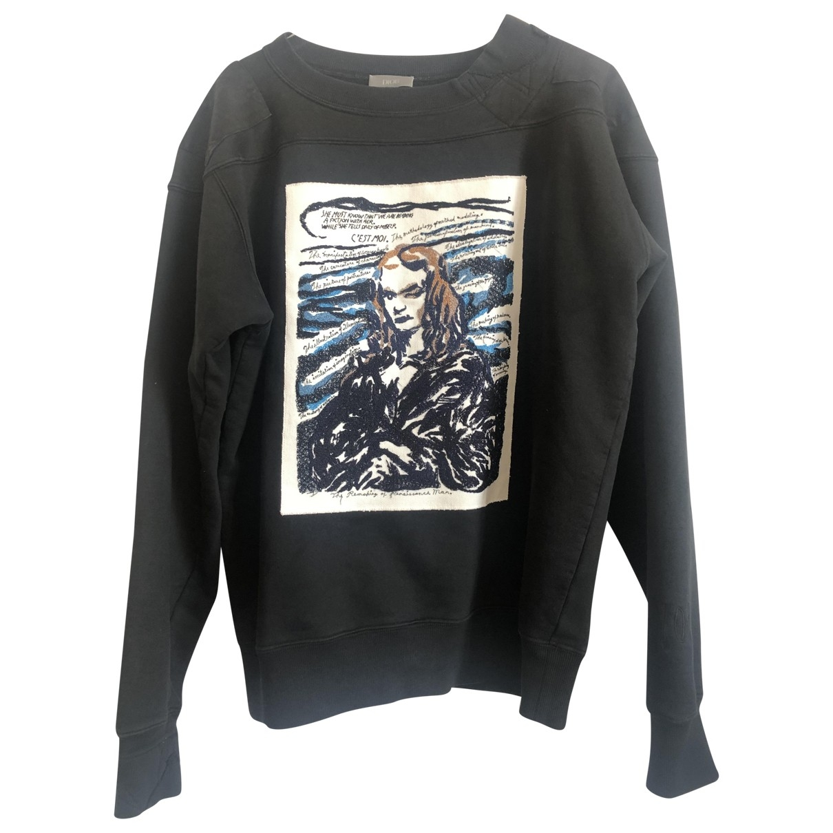 Dior \N Pullover.Westen.Sweatshirts  in  Blau Baumwolle