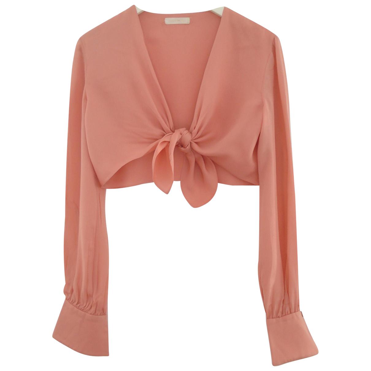 Valentino Garavani N Pink Silk  top for Women 8 US