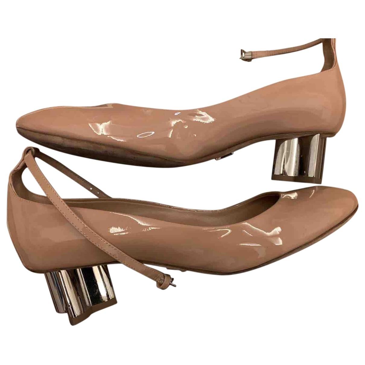 Louis Vuitton \N Pink Patent leather Ballet flats for Women 39.5 EU