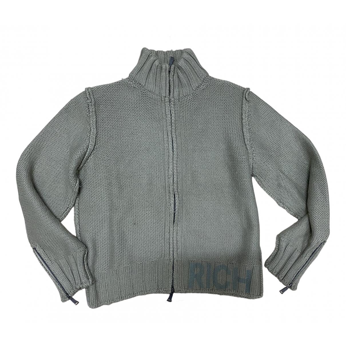 John Richmond \N Pullover.Westen.Sweatshirts  in  Gruen Wolle