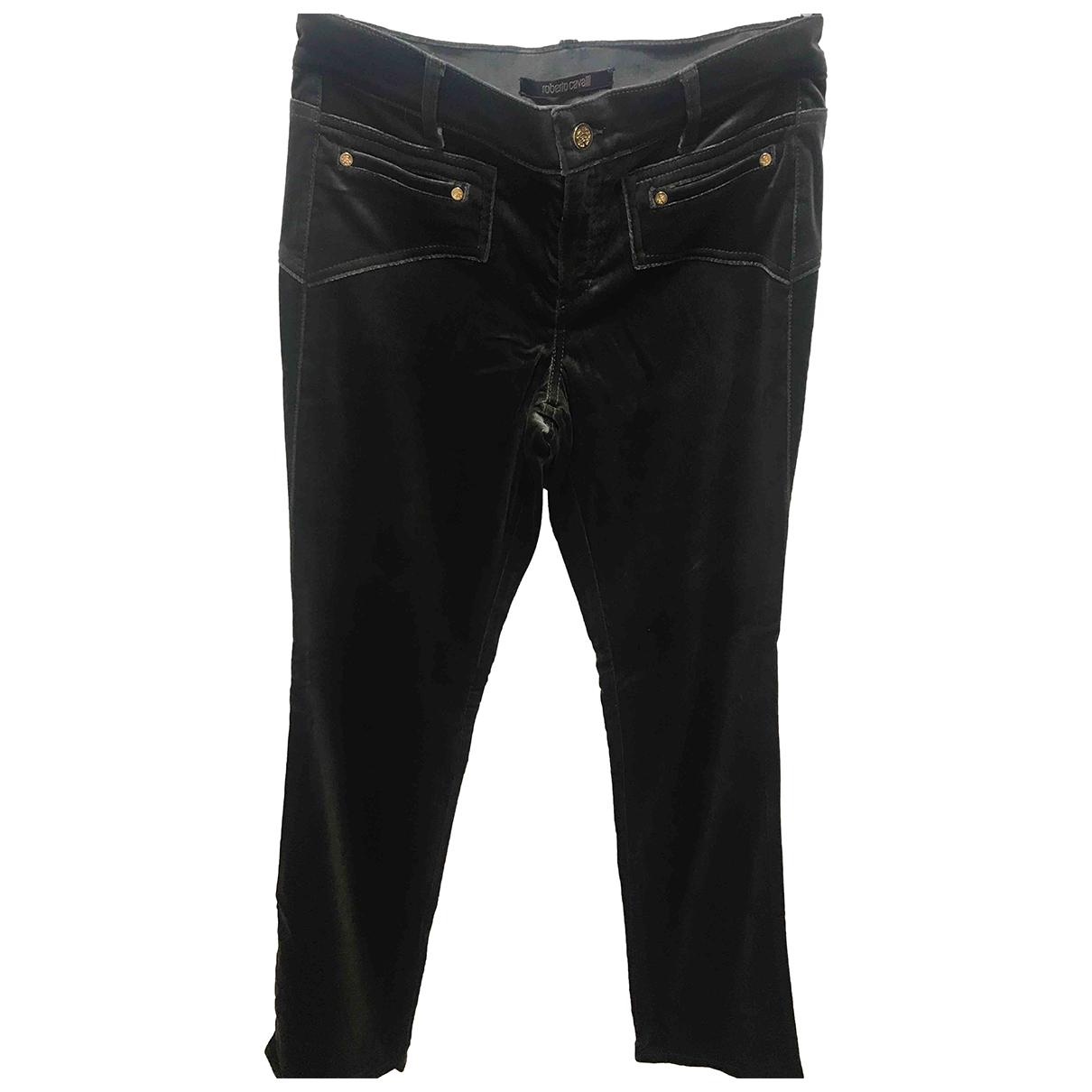 Roberto Cavalli N Green Velvet Trousers for Women 42 IT