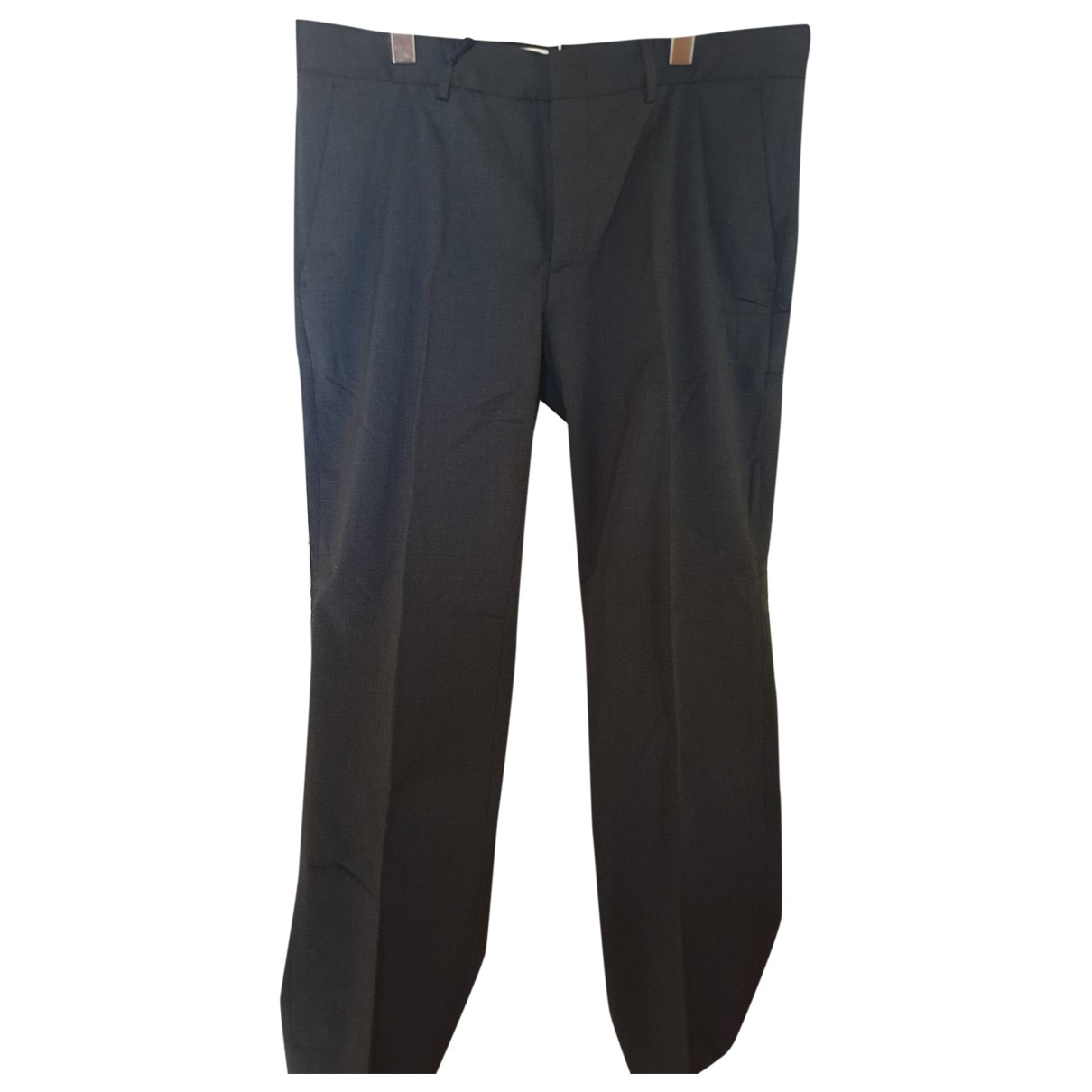 Moncler \N Anthracite Wool Trousers for Men 54 IT