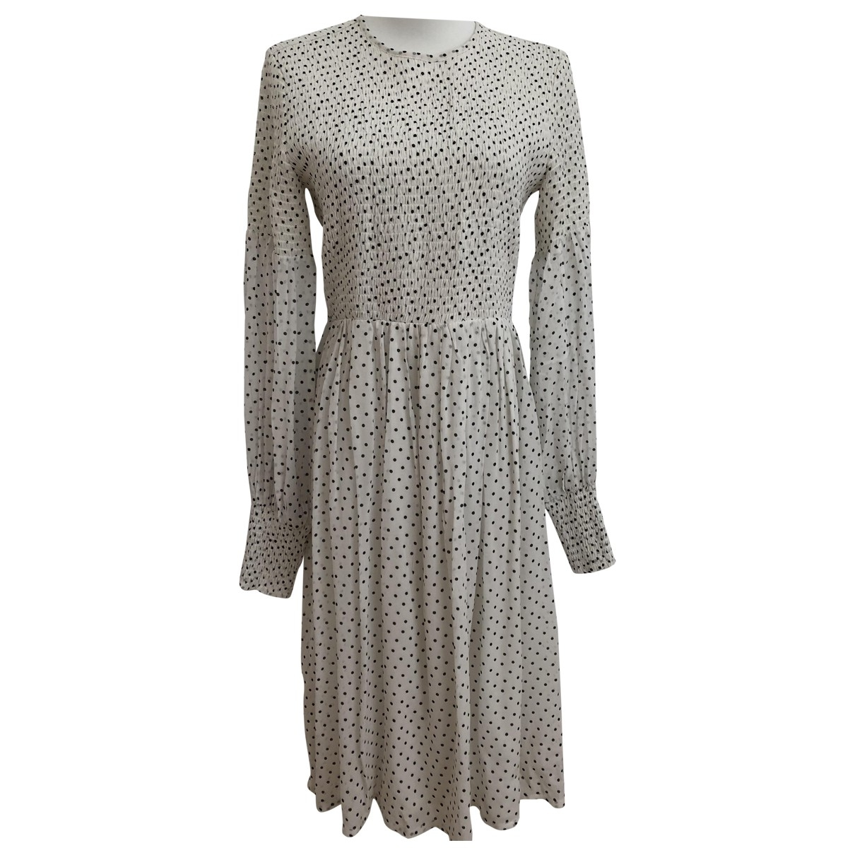 Ganni - Robe   pour femme - blanc