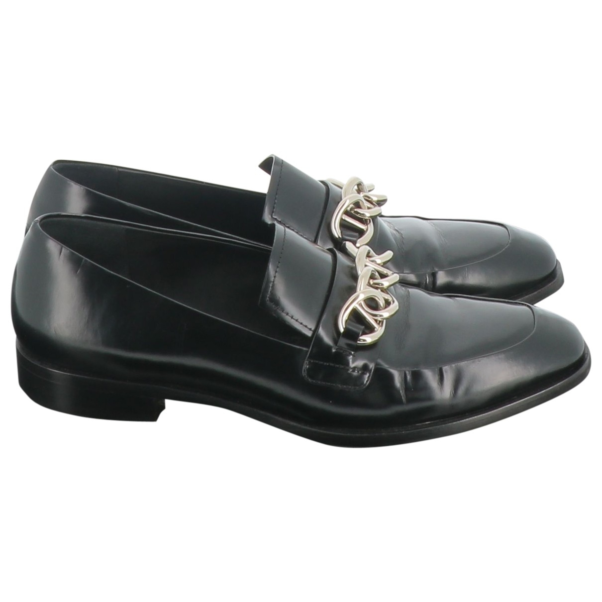 Prada \N Black Leather Flats for Women 38 EU