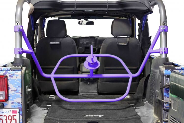Steinjager J0045503 Tire Carrier Wrangler JK 2007-2018 2 Door Internal Sinbad Purple