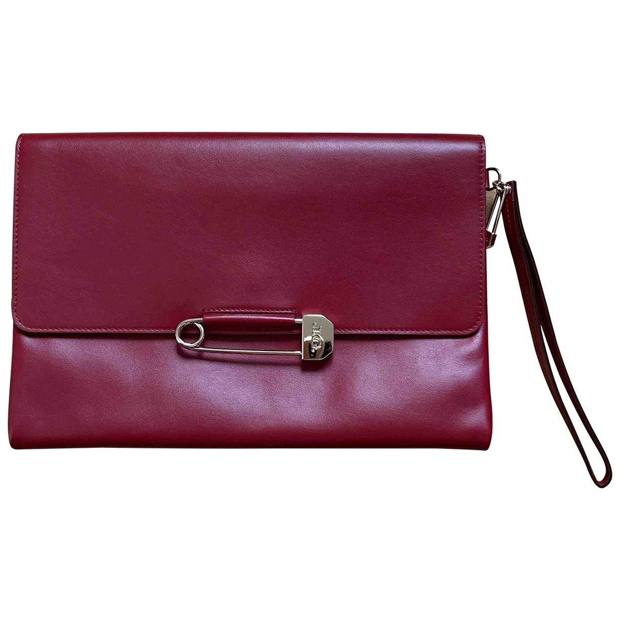 John Galliano - Pochette   pour femme en cuir - rouge