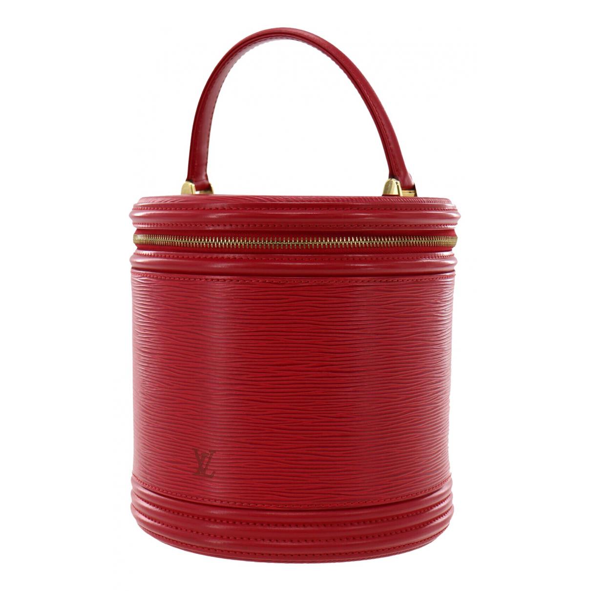 Louis Vuitton - Sac a main Cannes pour femme en cuir - rouge