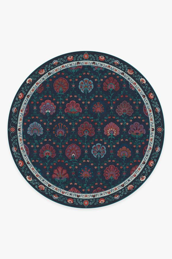 Washable Rug Cover   Sibel Sapphire Rug   Stain-Resistant   Ruggable   8' Round