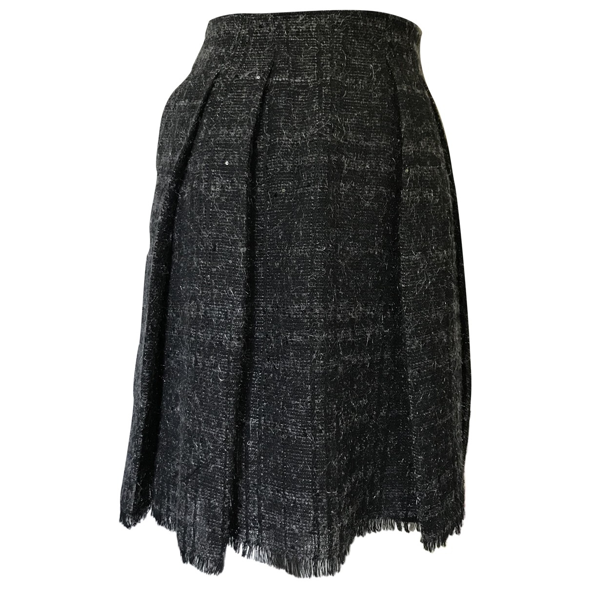 Falda midi de Lana Burberry
