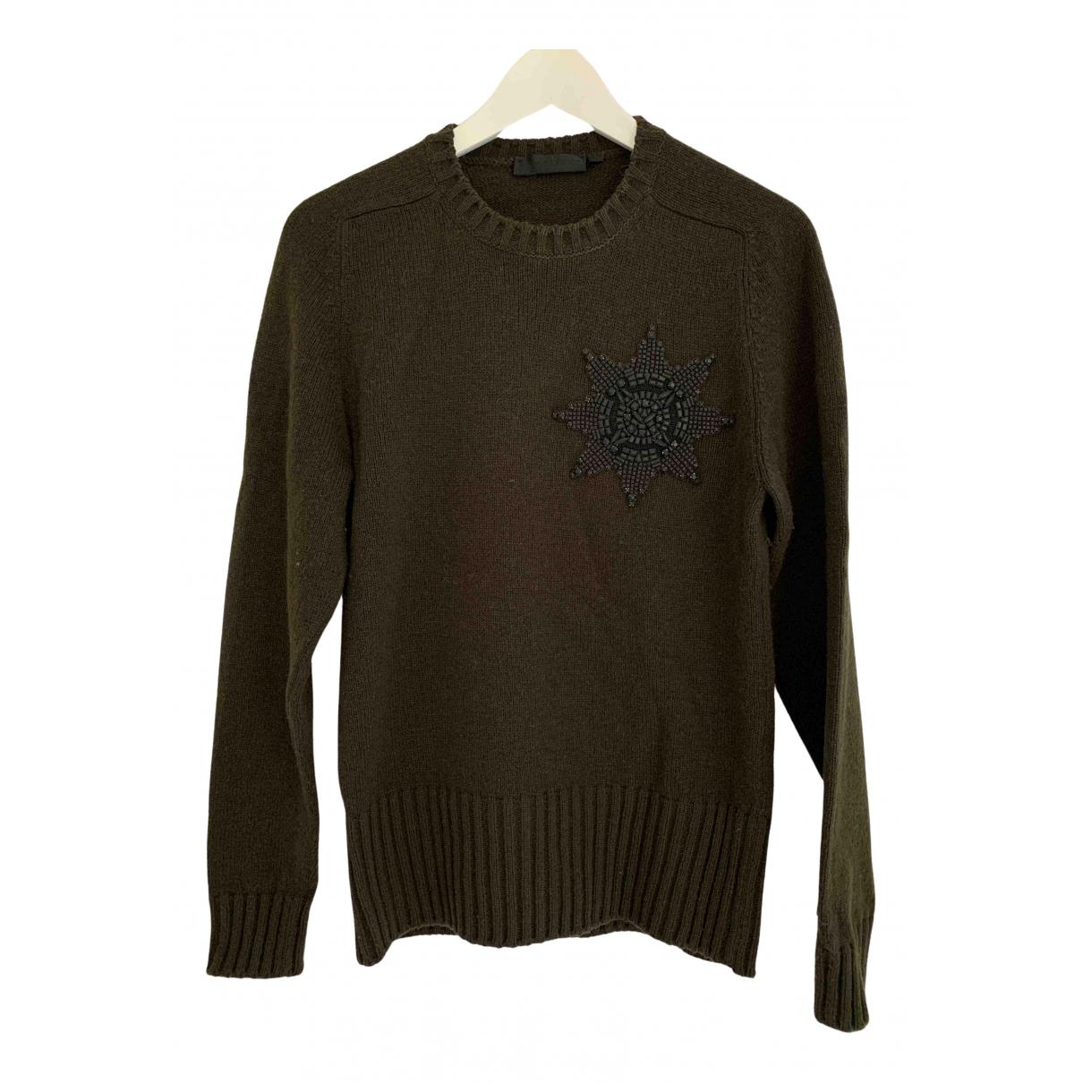 Alexander Mcqueen \N Pullover.Westen.Sweatshirts  in  Gruen Wolle
