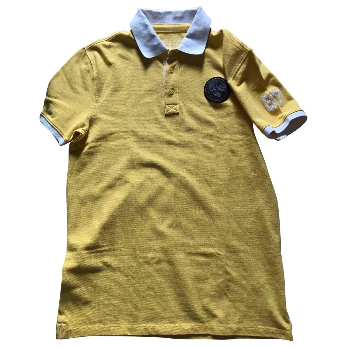 Napapijri - Top   pour enfant en coton - jaune
