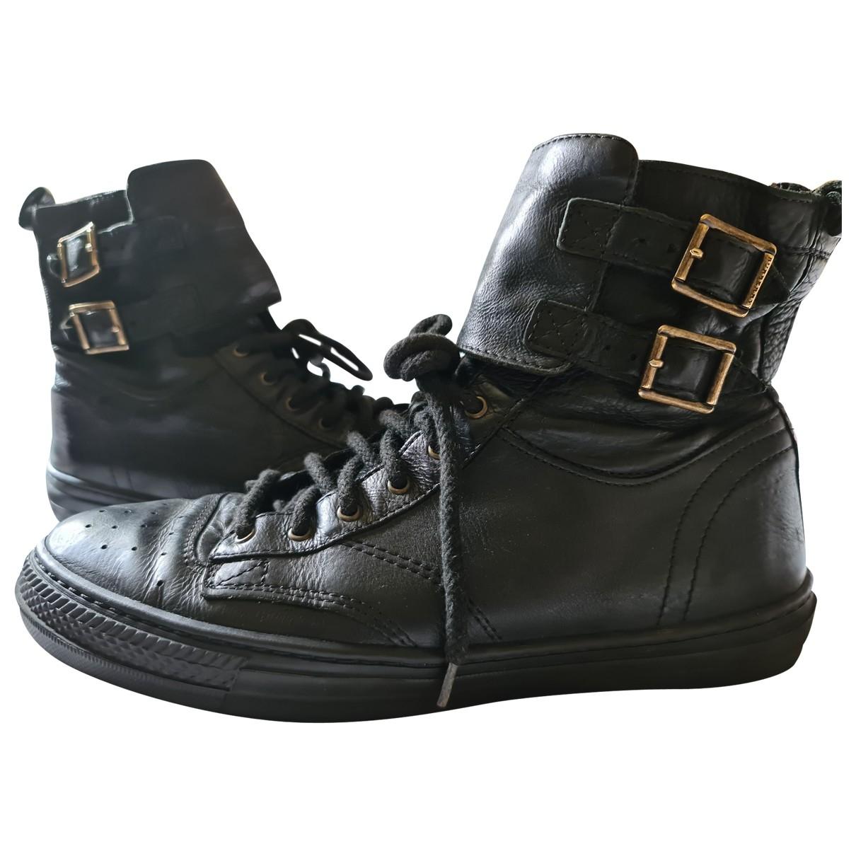 Burberry \N Stiefeletten in  Schwarz Leder