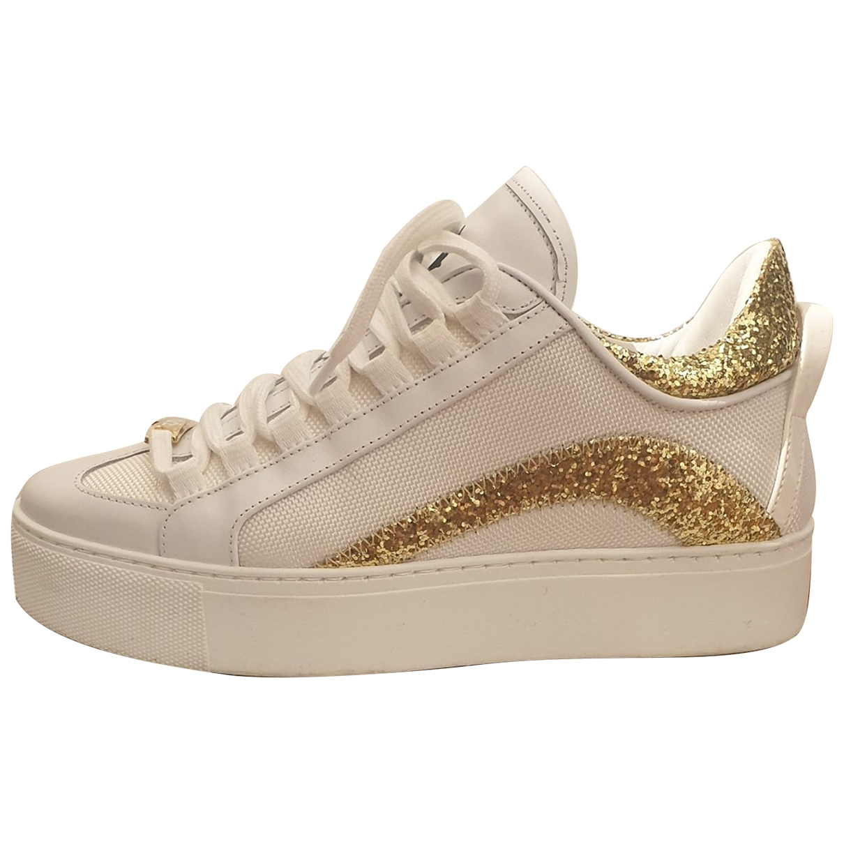 Dsquared2 \N White Leather Trainers for Women 37 EU