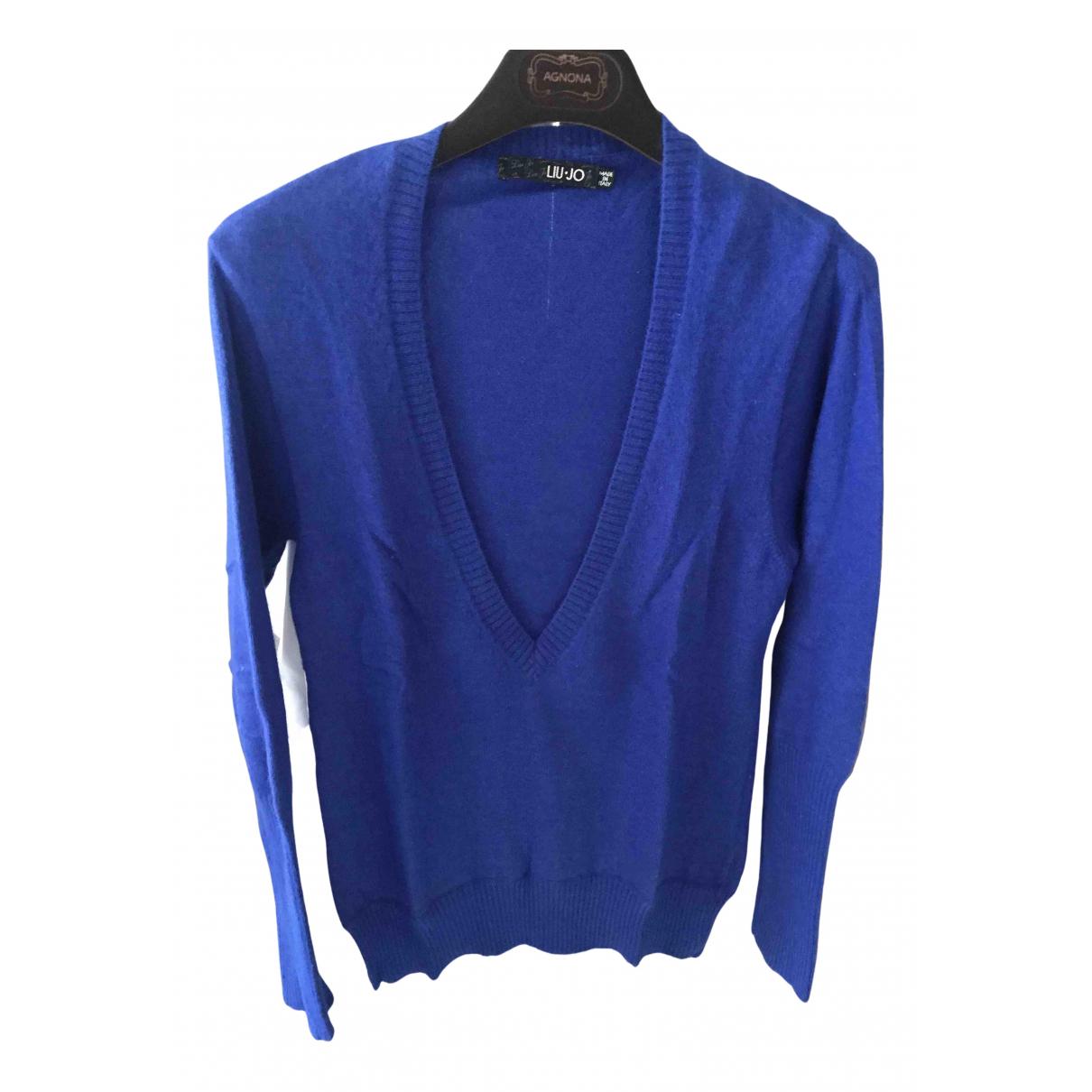 Liu.jo - Pull   pour femme en laine - bleu