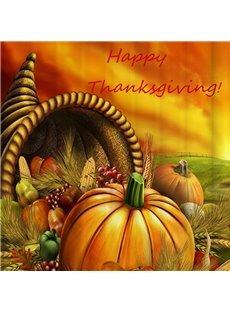 Lovely Thanksgiving 3D Pumpkin Image Shower Curtain
