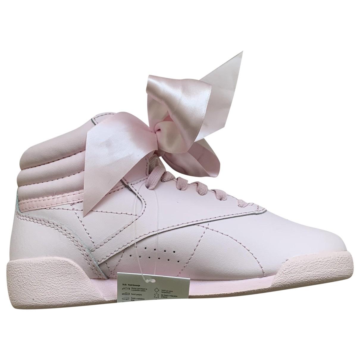 Reebok - Baskets   pour enfant en cuir - rose