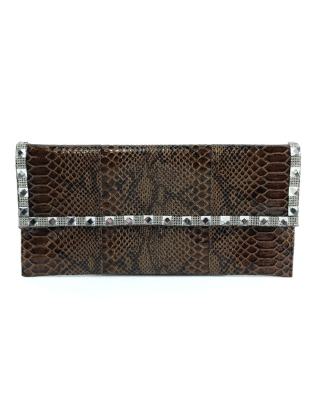 Milanoo Clutch Bags Snake Printed Evening Party Handbags
