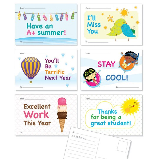 Scholastic® Hello Summer Postcards, 3 Packs Of 36 | Michaels®