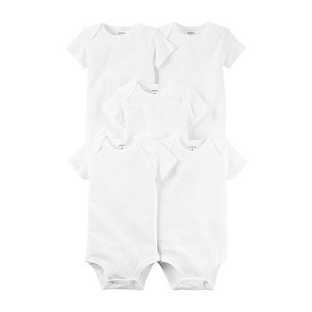 Carter's Little Baby Basic Baby Unisex 5-pc. Bodysuit, 6 Months , White