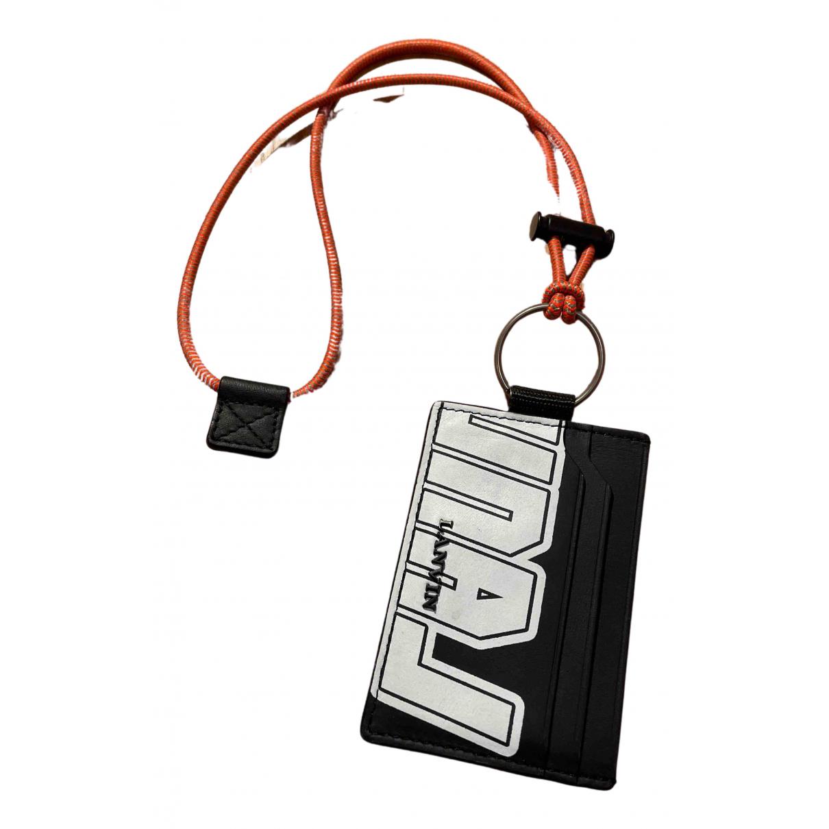 Lanvin N Black Leather Small bag, wallet & cases for Men N