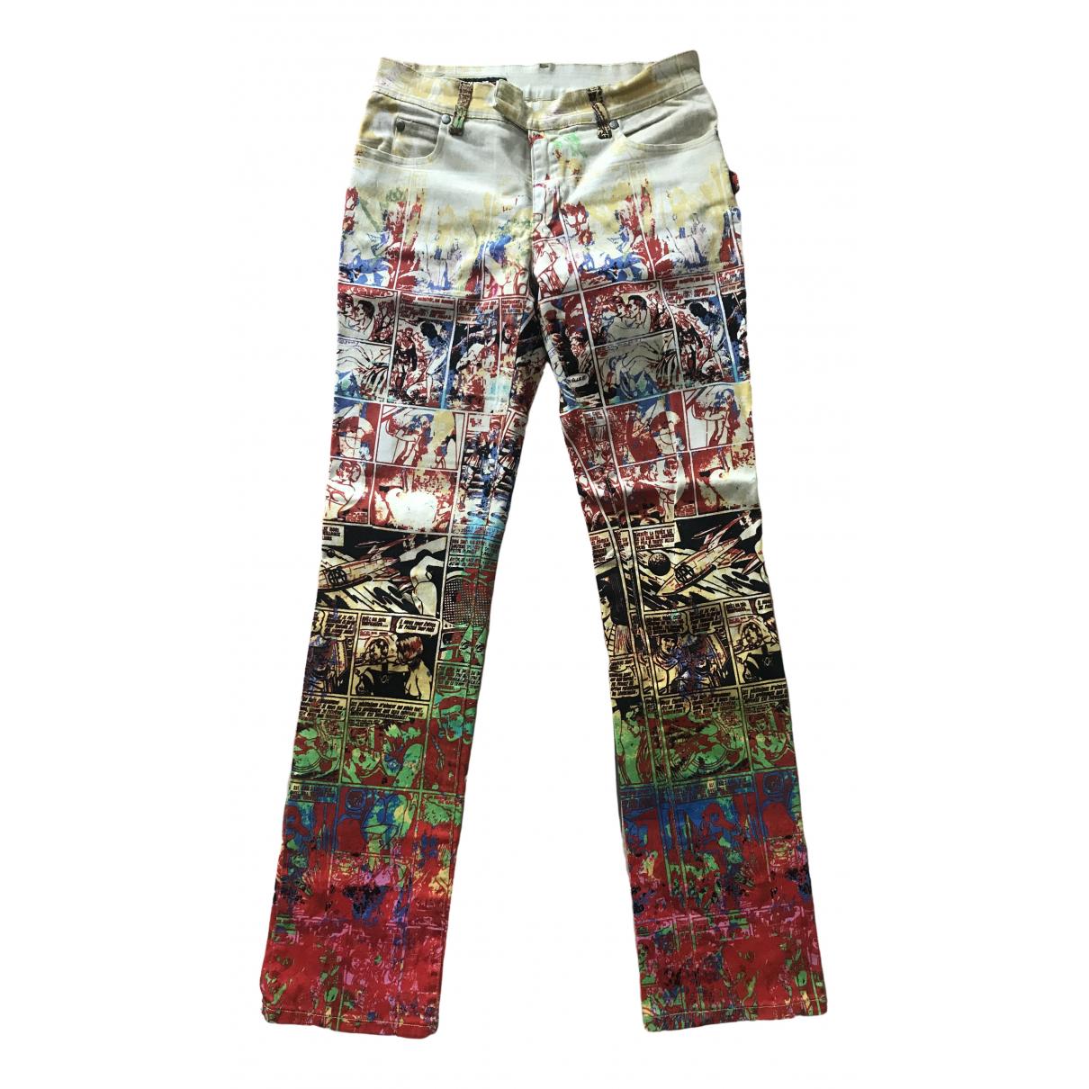 Jean Paul Gaultier \N Multicolour Cotton Trousers for Women 36 FR