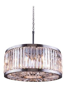 1203D28PN/RC 1203 Chelsea Collection Pendent Lamp D: 28 H: 15.5 Lt: 8 Polished nickel Finish (Royal Cut